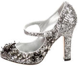 Dolce & Gabbana Sequined Mary Jane Pumps w/ Tags