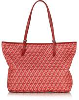 Lancaster Paris Ikon Printed Coated Canvas and Leather Tote