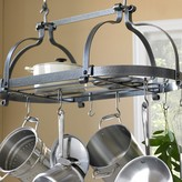 Enclume Double Dutch Crown Ceiling Pot Rack, Hammered Steel