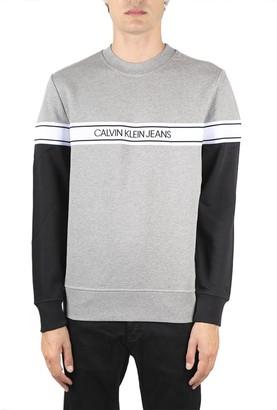 Calvin Klein Jeans Grey Cotton Sweatshirt