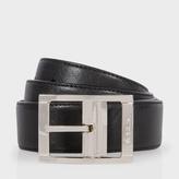 Paul Smith Men's Black And Purple Reversible Saffiano Leather Belt