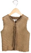 Bonpoint Girls' Shearling Metallic-Accented Vest