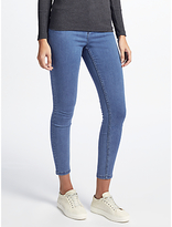 John Lewis Stretch Denim Jeggings, Midwash Blue