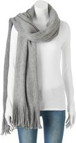 Apt. 9 Solid Brushed Fringe Oblong Scarf