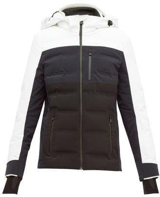 Aztech Mountain Nuke Bi-colour Quilted Ski Jacket - White Multi