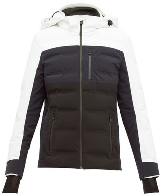 Aztech Mountain Nuke Two-tone Quilted Ski Jacket - Womens - White Multi