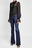Elie Saab Blouse with Silk, Velvet and Lace