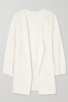 Allude Draped Wool Cardigan - White