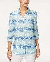 Charter Club Linen Roll-Tab Shirt, Only at Macy's