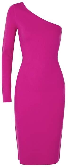 Diane von Furstenberg Pink One-shoulder Stretch-knit Dress