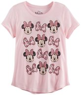 Disney Disney's Minnie Mouse Girls 7-16 Glitter Bows Graphic Tee