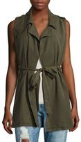 Saks Fifth Avenue RED Solid Sleeveless Vest