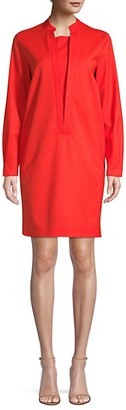 Piazza Sempione Ovoid Stretch Virgin Wool Dress
