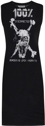 Ashley Williams Skull Print Sleeveless Dress