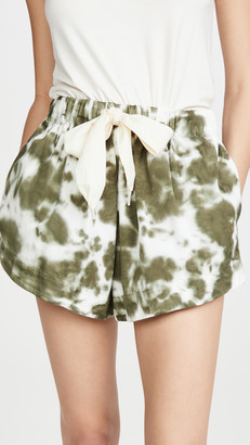 Bassike Twill Flared Mini Shorts