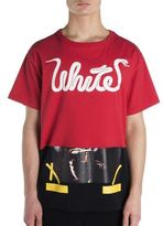 Off-White Cotton Short Sleeve T-Shirt