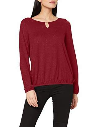 S'Oliver Women's 05.912.31.6949 Long Sleeve Top, Blue (Blue 55), 12 (Size: )
