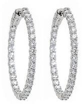 Neiman Marcus Diamonds 14k Diamond Hoop Earrings, 4.0tcw