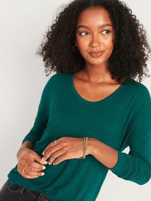Old Navy Loose Luxe Slub-Knit Tunic Tee for Women