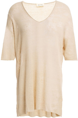 American Vintage Lolliford Ribbed Linen Top