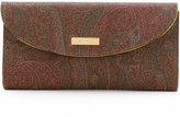 Etro abstract print wallet - women - Leather - One Size