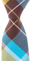 Original Penguin Haskin Plaid Skinny Cotton Tie