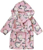 Happy Cherry Children's Robe Kids Cartoon Flannel Bathrobe Polka Dot Sleepwear Size 110