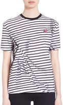McQ by Alexander McQueen Striped Pleated T-Shirt