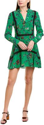 Derek Lam 10 Crosby Lace-Trim Silk Shift Dress