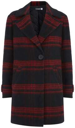 Mint Velvet Lumberjack Check Coat