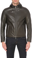 HUGO BOSS Hooded leather jacket
