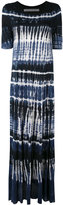 Raquel Allegra tie-dye maxi dress - women - Rayon - 0