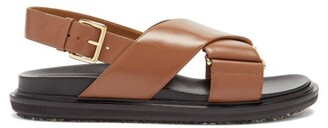 Marni Fussbett Smooth Leather Sandals - Tan
