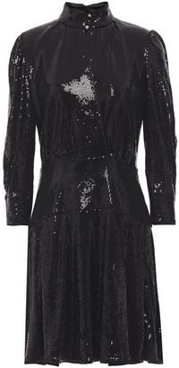 Just Cavalli Sequin-embellished Jersey Mini Dress