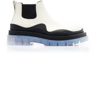 Bottega Veneta Short Lug Sole Leather Ankle Boots