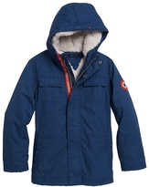 Tommy Hilfiger Shearling-Lined Hooded Jacket