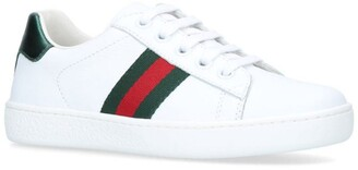 Gucci Kids Ace Web Sneakers