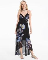 White House Black Market Floral High-Low Maxi Dress