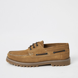 River Island Brown suede chunky boat shoes