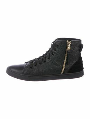 Louis Vuitton Monogram Leather Sneakers Black