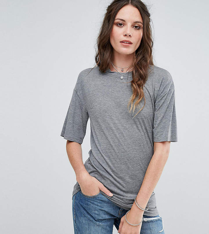Glamorous Tall Relaxed T-Shirt With Cut Out Collar