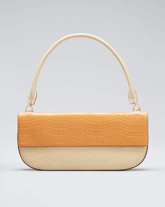 Danse Lente Two-Tone Embossed Leather Shoulder Bag