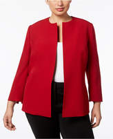 Anne Klein Plus Size Open-Front Jacket