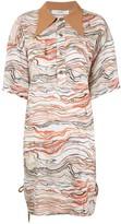 G.V.G.V. Oversized Marble-Print Shirt