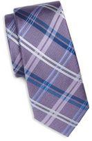 Saks Fifth Avenue Plaid Woven Silk Tie