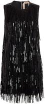 No.21 No. 21 Sequin Fringe Sleeveless Shift Dress