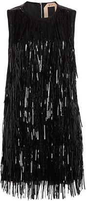 No.21 Sequin Fringe Sleeveless Shift Dress