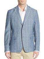 Calvin Klein Regular-Fit Plaid Wool Blazer