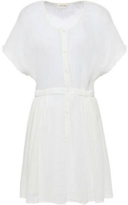 American Vintage Gathered Cotton-gauze Mini Dress