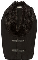 MICHAEL Michael Kors Faux Fur-Trimmed Convertible Cotton-Blend Gilet